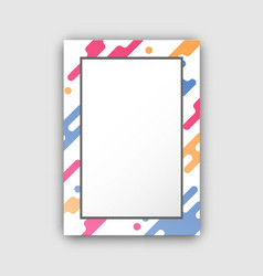 Photo frame with paint splashes border and figures vector