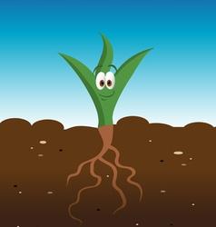 plant happy vector image