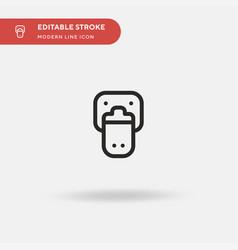 Platypus simple icon symbol vector