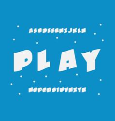 play font alphabet vector image
