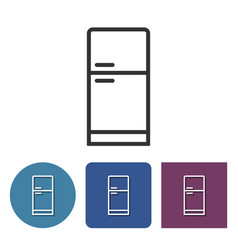 Refrigerator line icon in different variants vector