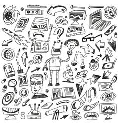 Science - doodles set vector image