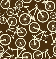 Seamless pattern of bicycles vector image