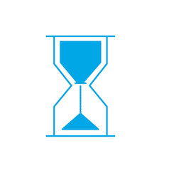 silhouette hourglass object design to know the vector image