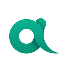 Simple logo of the letter a in flat style vector