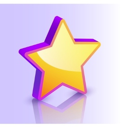 star icon isolated vector image