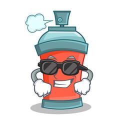 Super cool aerosol spray can character cartoon vector