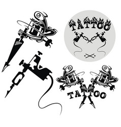 tattoo machines vector image