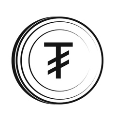 Tugrik icon simple style vector image