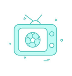 tv football icon design vector image