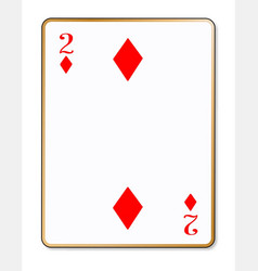 Two diamonds playing card vector