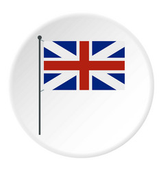 Uk flag icon circle vector