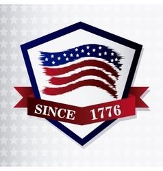 United states of america flag design vector