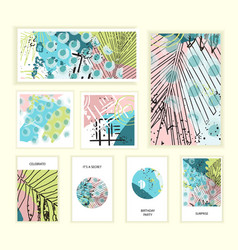 universal floral posters set vector image