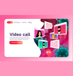 video call mobile chat concept people talk virus vector image