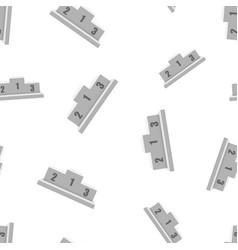 winners podium icon seamless pattern background vector image
