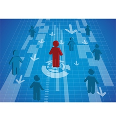 A man standing icon out from the crowd vector