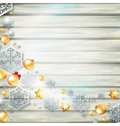 Christmas template with paper cutout eps 10 vector