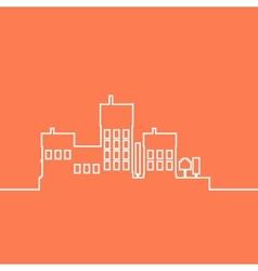 Color flat contours of the urban landscape vector image