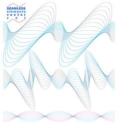 Elegant flowing lines background royal design vector image vector image