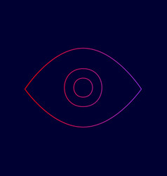eye sign line icon with vector image