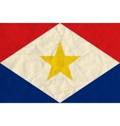 Saba paper flag vector image
