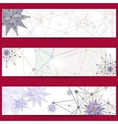 Set of banners on the theme of science and vector image