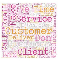 Stellar Customer Service in Simple Steps text vector image