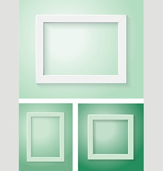 white and green frame set vector image vector image
