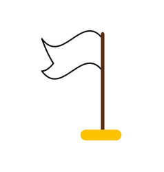 flag location isolated icon vector image
