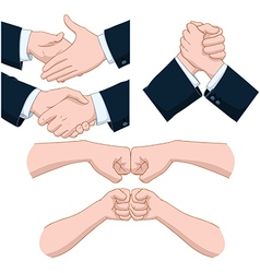 Hand Shakes Pack vector image vector image