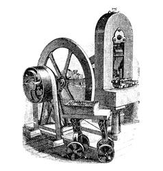 Hit machine vintage engraving vector image vector image