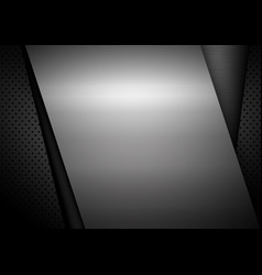 Metal background design with copy space vector