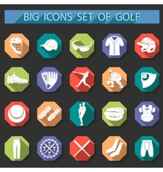 Set of icons of baseball vector image