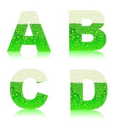 alphabet green beer ABCD vector image