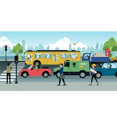 City Traffic vector image vector image