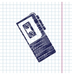Dictaphone icon vector image