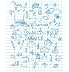 Exercise book return to school vector image