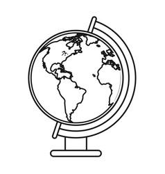 globe world map thin line vector image