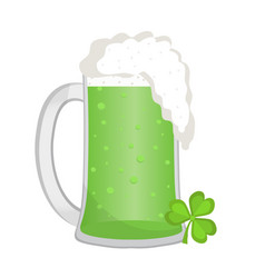 green beer icon flat style st patrick s day vector image vector image