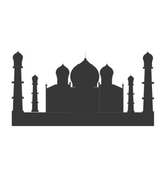 indian landmark building icon vector image