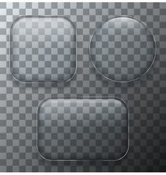 modern transparent glass plates set on vector image vector image