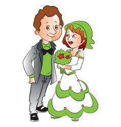 woman giving flowers to boyfriend vector image