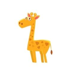 Giraffe Toy Exotic Animal Drawing vector image