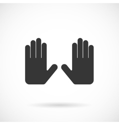 Grey Hands Icon vector image