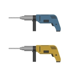 Hand Drill set vector image