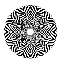 op art style - black and white abstract optical vector image