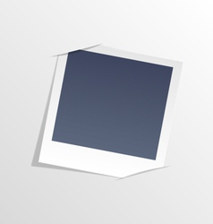 Photo frame inserted in slits of white sheet paper vector image vector image
