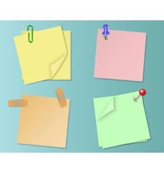 Set pieces of paper of different colors vector image