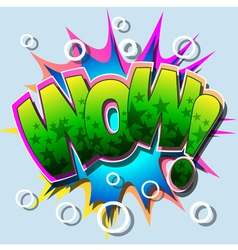 wow vector image vector image